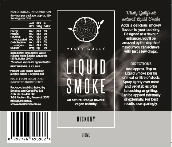 Misty Gully Liquid Smoke Hickory (210ml)