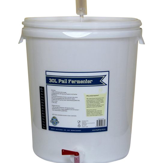 Pail fermentor for home brewing