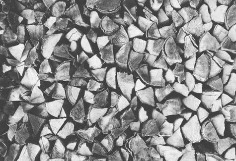 wood stack b w
